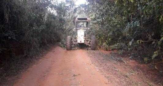 Estrada recuperada (Foto: Divulgação)