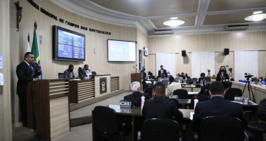 Sessão da Câmara Municipal de Campos