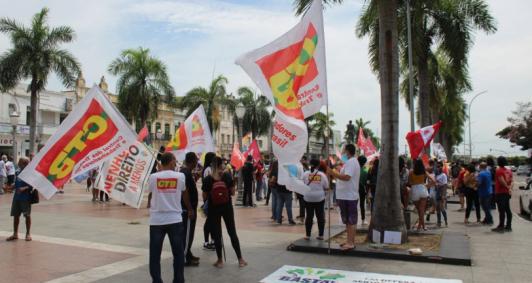 Protesto contra Bolsonaro (Foto: Rodrigo Silveira)