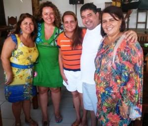 Da esquerda para direita: Odisséia Carvalho, Zeidan, Carla Machado, Washington Quaquá e Soninha Pereira