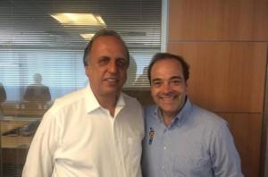Governador Pezão e o secretário de Transportes Carlos Osório. Reprodução/Facebook