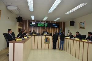Vereadores de SJB reunidos na sessão de terça-feira (10)
