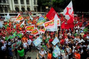 Manifestação pró-Dilma no Rio de Janeiro. Foto: Tomaz Silva / Agência Brasil
