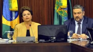 Dilma Rousseff e o ex-ministro Antonio Palocci, que será investigado pelo juiz Sergio Moro
