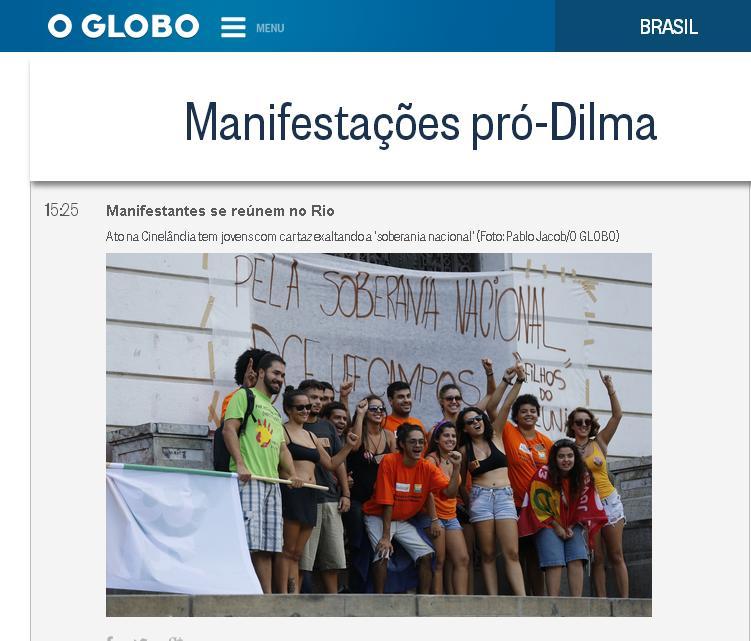 Reprodução do site O Globo