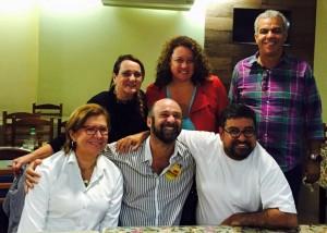 Carla esteve com candidato a prefeito de Natividade pelo PT, em comício que também contou com a presença do presidente estadual do PT. Reprodução/Facebook