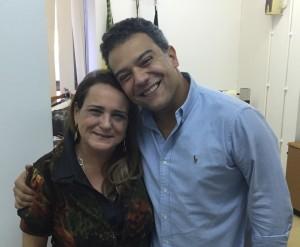 Carla e o presidente do PTB no Rio de Janeiro