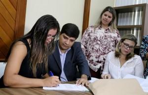 Profissionais tomaram posse no Gabinete do prefeito Neco