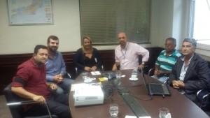 Prefeito e representantes da Pesca no município estiveram no Inea