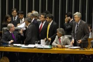 O presidente da Câmara, Eduardo Cunha, durante sessão deliberativa, no plenário da Casa