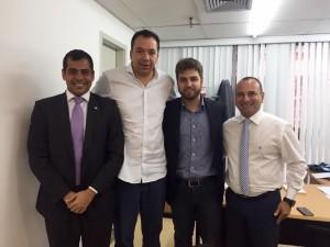 Bruno Dauaire com Márcio Canella, Wladimir Garotinho e o deputado estadual Waguinho (PMDB)