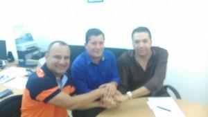 Neco esteve com Waguinho e Márcio Canella