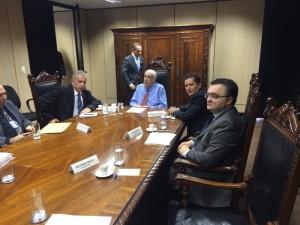 Reunião aconteceu no ministério dos Transportes