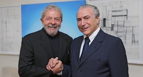 Lula e Temer na mais bela amizade, antes da crise política (Foto: RicardoStuckert/InstitutoLula)