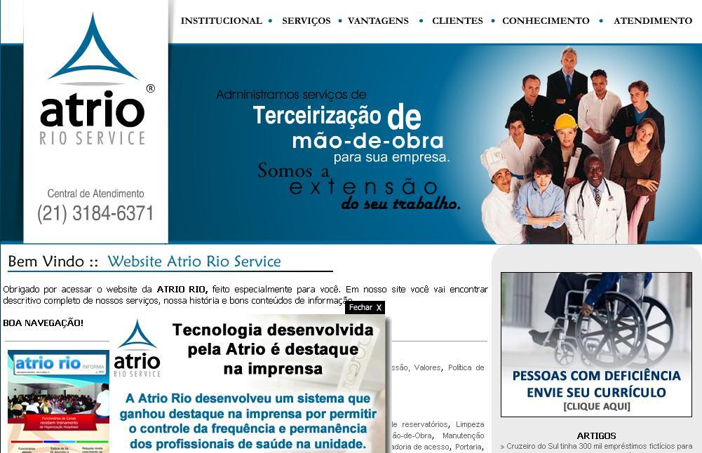 Reprodução/site da Átrio