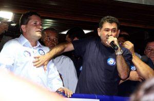 Ex-presidente da Alerj participou do comício