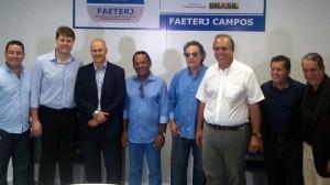 O governador Pezão presente a inauguração da FAETERJ de Campos dos Goytaczes