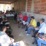 A preocupação com a falta dágua na Lagoa de Campelo reuniu pescadores, produtores e autoridades