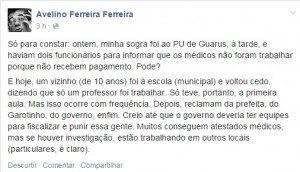 DO Facebook do Professor Avelino Ferreira