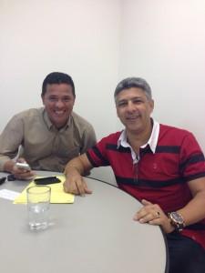 Serginho Barcelos(PSB Estadual) e Marcinho Siqueira.  Amizade de mais de 30 anos