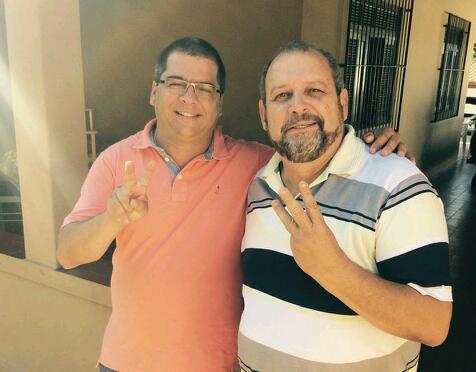 Na foto: vereador Alexandre Barrão e o presidente do PPS/SFI, Zé Armando Barreto