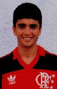 Bebeto quando jogava no Flamengo