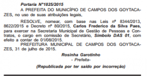 carlos frederico secretario Do 05082015
