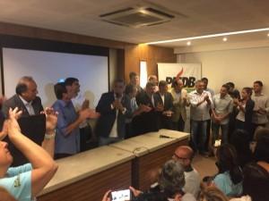 Pudim em recente evento com lideranças do PMDB