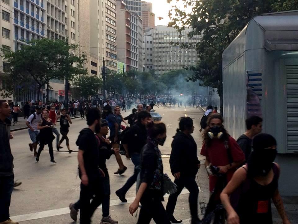 São Paulo, hoje (8). Foto: Mídia Ninja