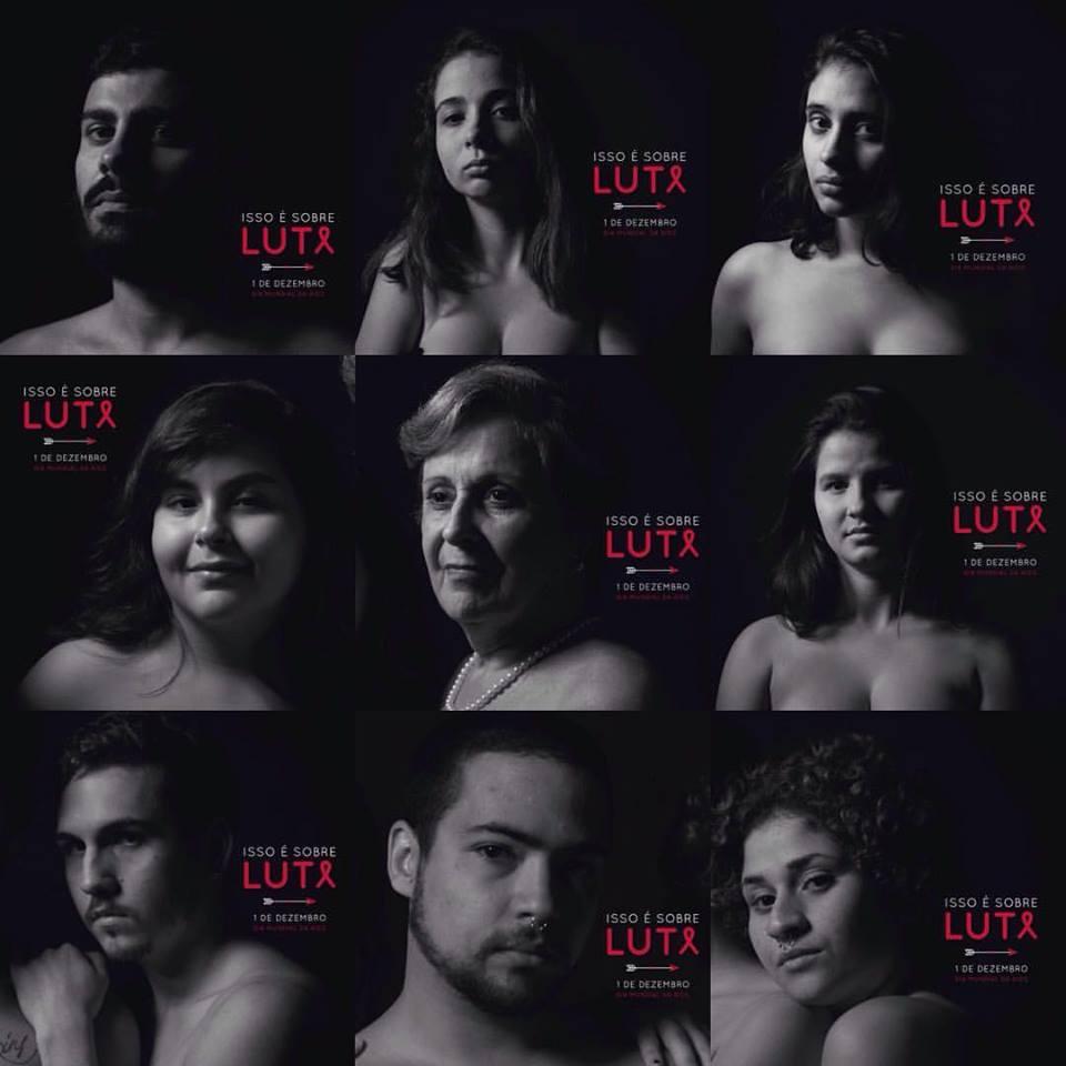 Algumas das fotos da campanha 'Isto é sobre luta!'