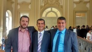 Prefeitos de Cambuci, Italva e SJ de Ubá: Agnaldo, Léo e Jean