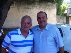 Prefeito Alfredão e o novo sub-secretário de Saúde, o médico Antônio Bussad.