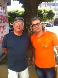 Os amigos e irmãos de maçonaria Luis Carlos Brocado e Leonardo Léo Farma