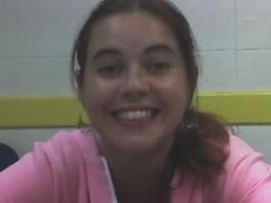 Livia, ainda no 1º ano de faculdade de Jornalismo. Aqui, quando estagiava na Rádio Itaperuna AM