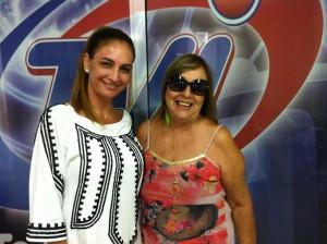 Sonia Suaid, diretora-presidente da TVI e Ivonete de Oliveira ftNB