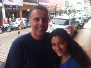 Álvaro Chaves e a filha Bruna