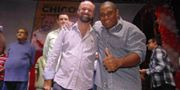 O prefeito Chico da Saúde e o vice, Alan Batata