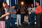 Anúncio oficial do resultado das eleições suplementares, feito pela juíza eleitoral Leidejane Chieza Gomes. Ft- TRE-RJ