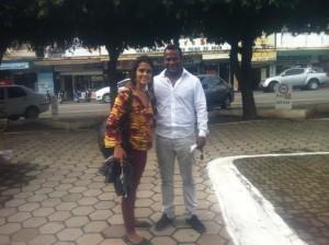 Lili Bustilho e o amigo Rudson Lima de Castro, major Pm e bacharel em Direito.
