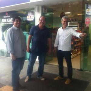 Marcus Vinícius, Marcos Timbozão e Rogerinho Bândoli... trio de peso