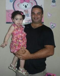 Gabriela e o pai Hugo Neto