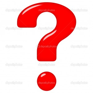 3d question mark isolated in white