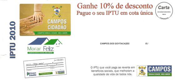 Carnê de IPTU 2010
