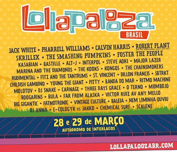 Lollapalooza 2015 Line-up