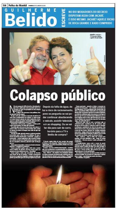 Folha Domingo - Apagão