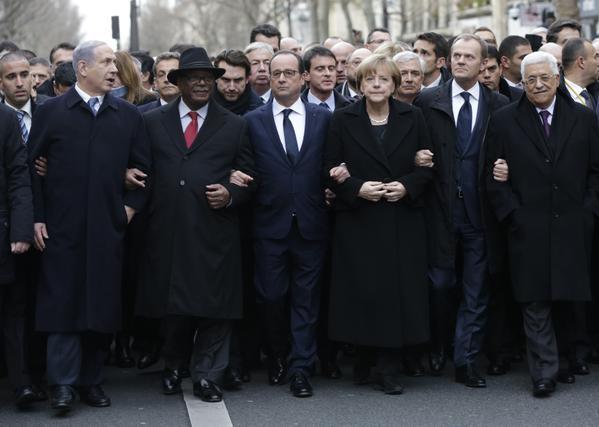 Marcha Histórica na França - atentado Charlie Ebdo