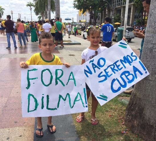 Manifestação contra Dilma