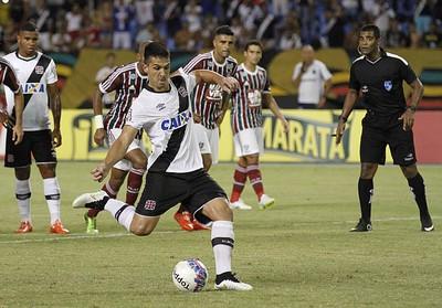 O Vasco venceu o último jogo contra o Fluminense por 1x0, no Engenhão, em partida tirada do Maracanã pela Ferj atendendo a interesses do Vasco - Foto: Marcelo Sadio / vasco.com.br