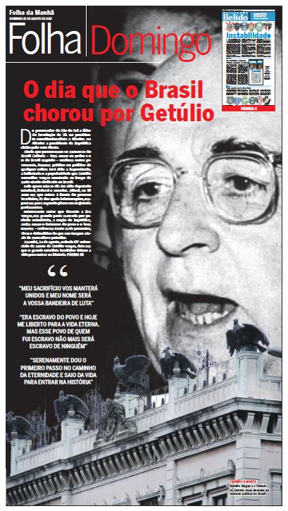 Folha Domingo - Getúlio capa