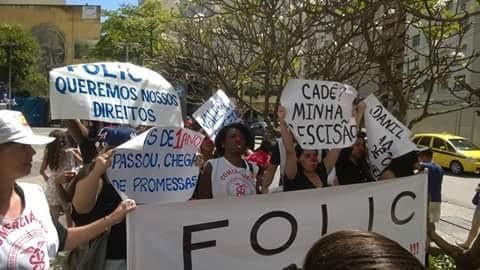 Folic manifestação direitos trabalhistas